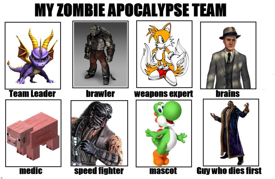 Zombie apocalypse team instagram