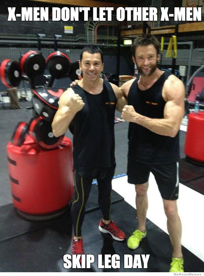 No day is leg for hugh jackman skipping