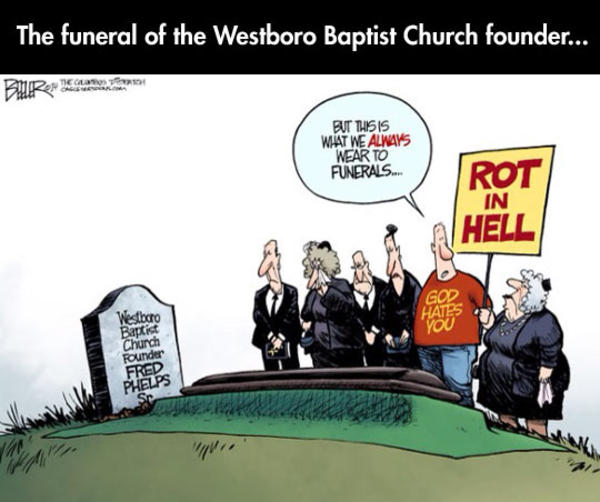 Fred Phelps' Funeral Comic