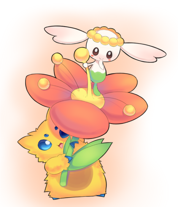 pokemon coloring pages flabebe flower - photo#27