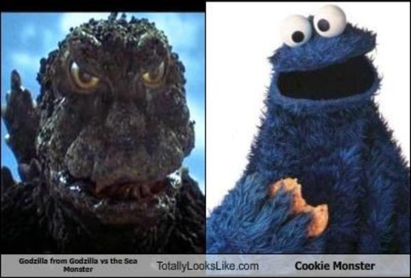 Godzilla vs The Cookie Monster | Godzilla | Know Your Meme