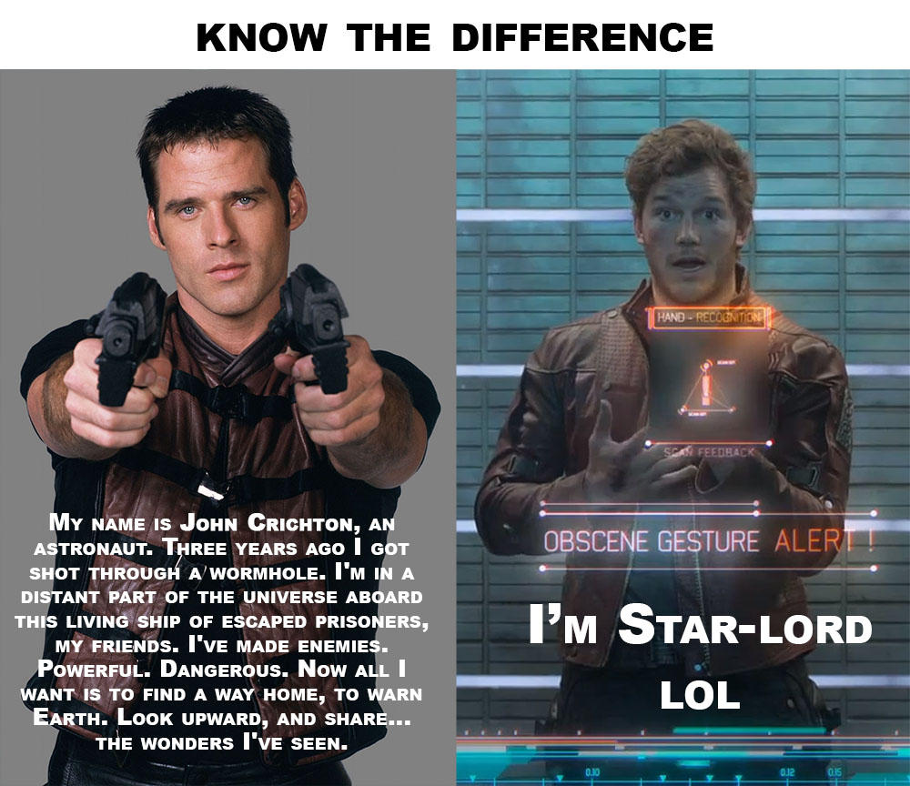 Farscape Of The Galaxy Know The Difference Guardians