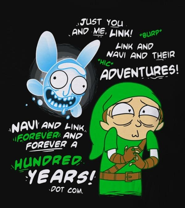Link And Navi Forever Ever Rick Morty Know