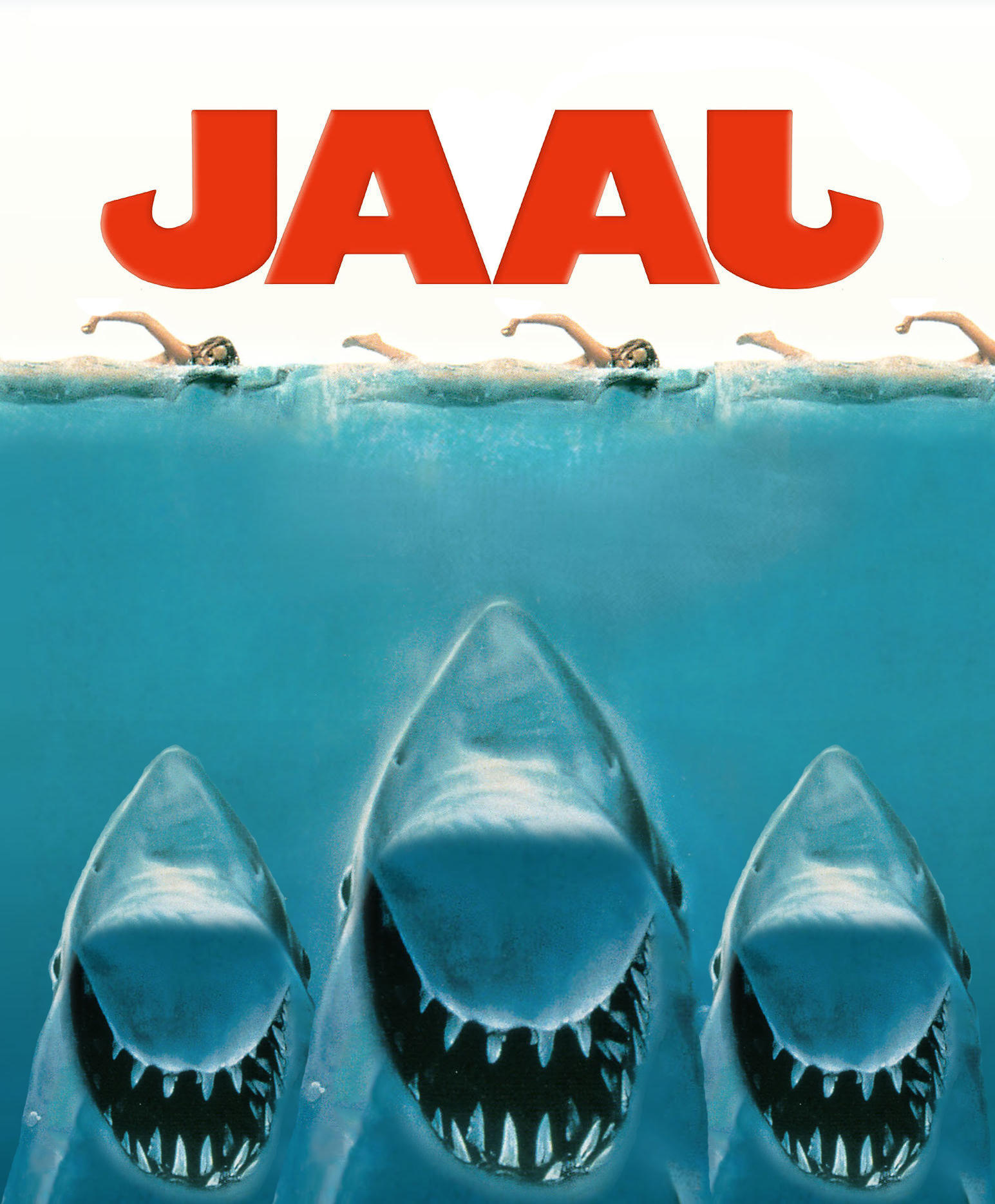 jaaj jaws poster parodies know your meme. Black Bedroom Furniture Sets. Home Design Ideas