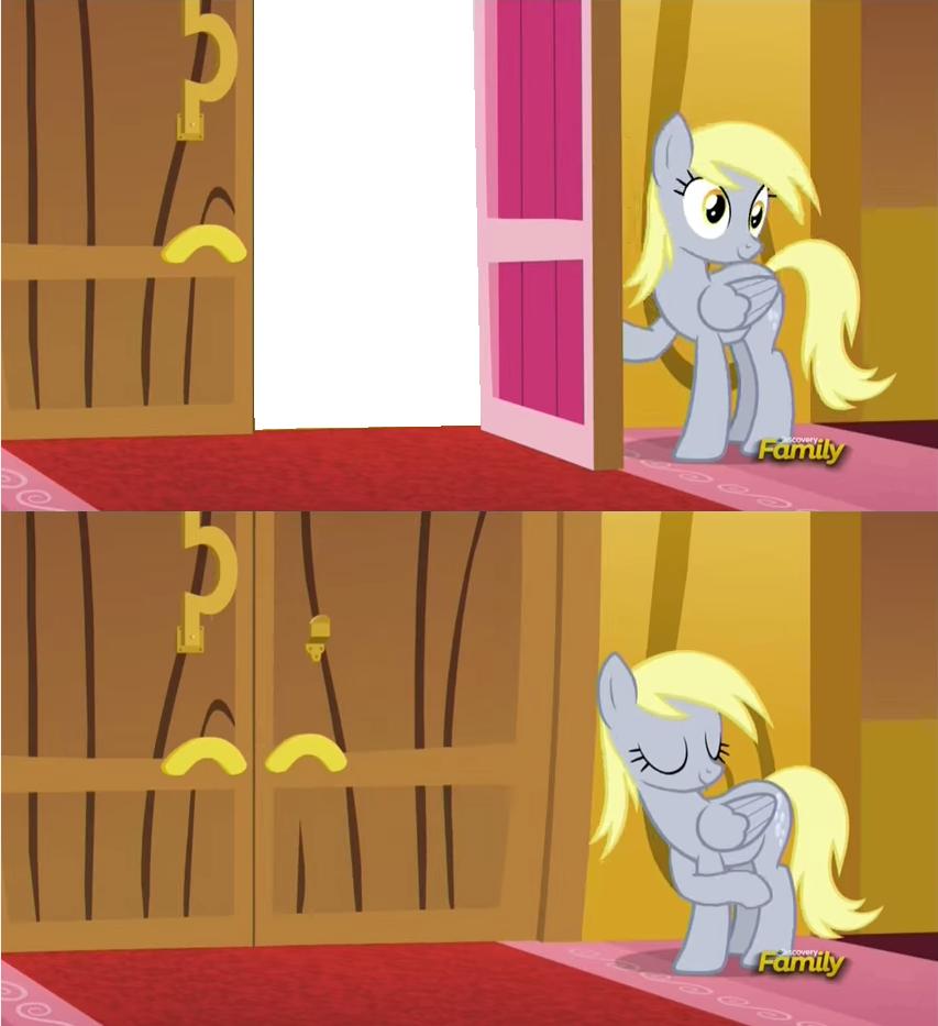 Derpy slamming the door in your face my little pony for My little magic door