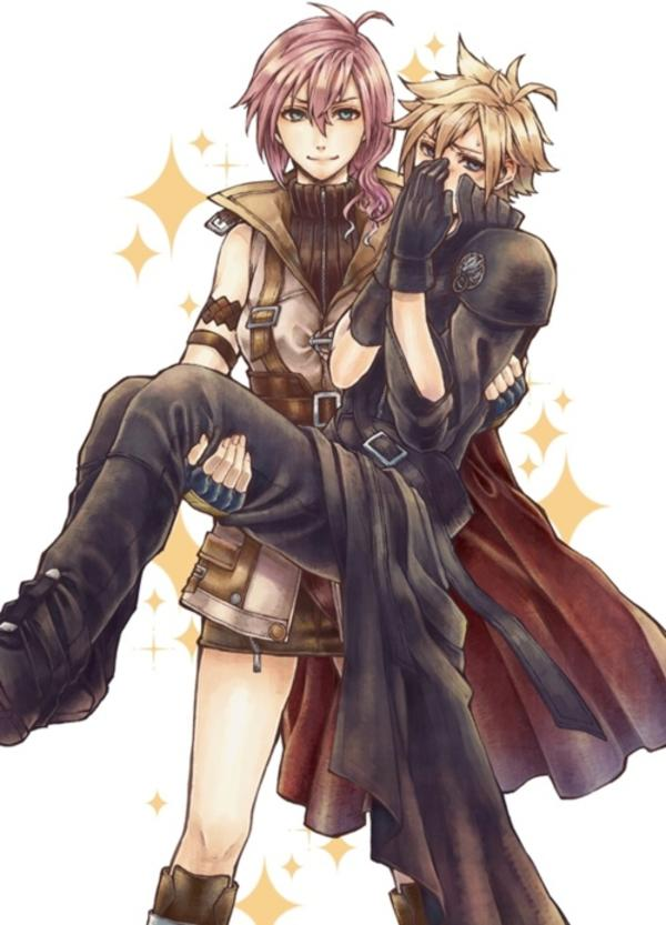 Lightning to the rescue final fantasy know your meme - Cloud strife fanart ...