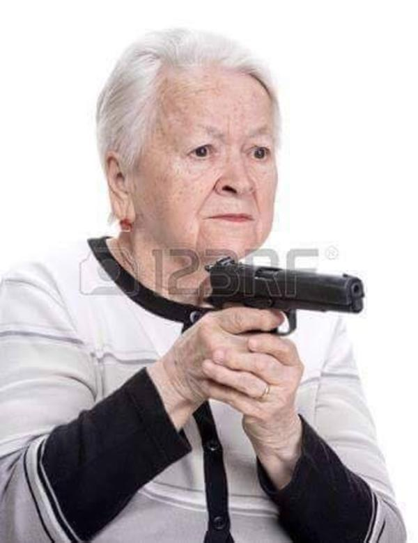 Granny With Gun 115