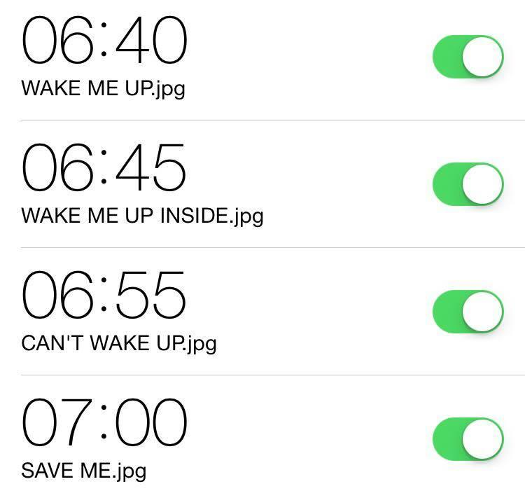 Alarm | Wake Me Up Inside (Can't Wake Up) | Know Your Meme