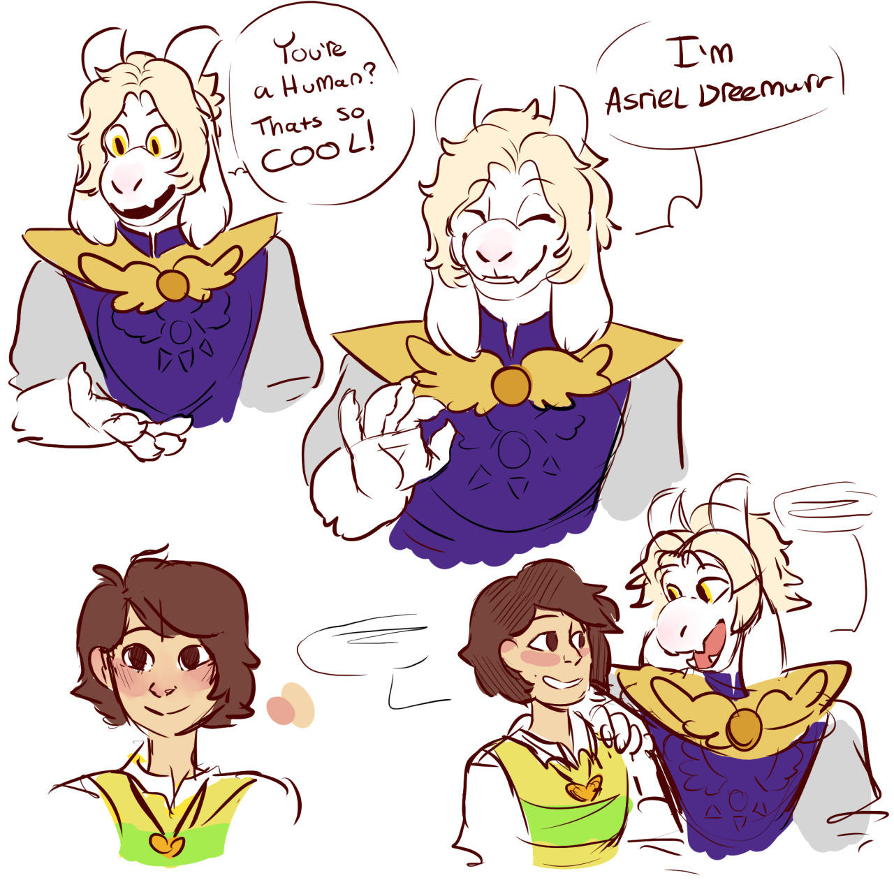 Prince Asriel And Frisk