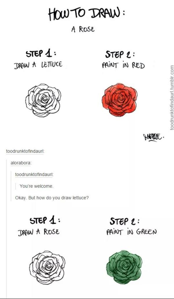 how to draw a love rose