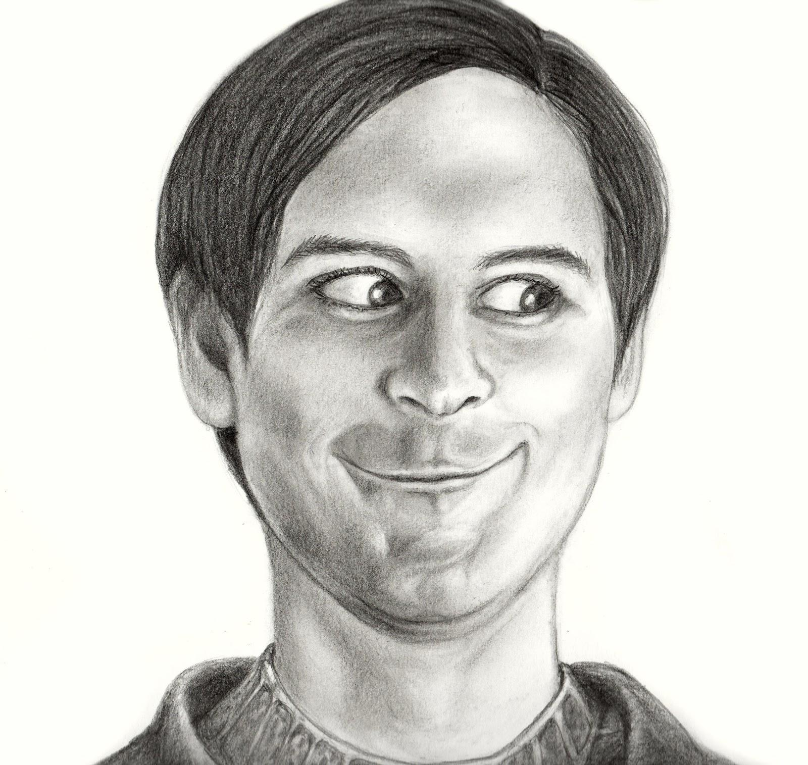 Realistic Drawing | Tobey Maguire Face | Know Your Meme
