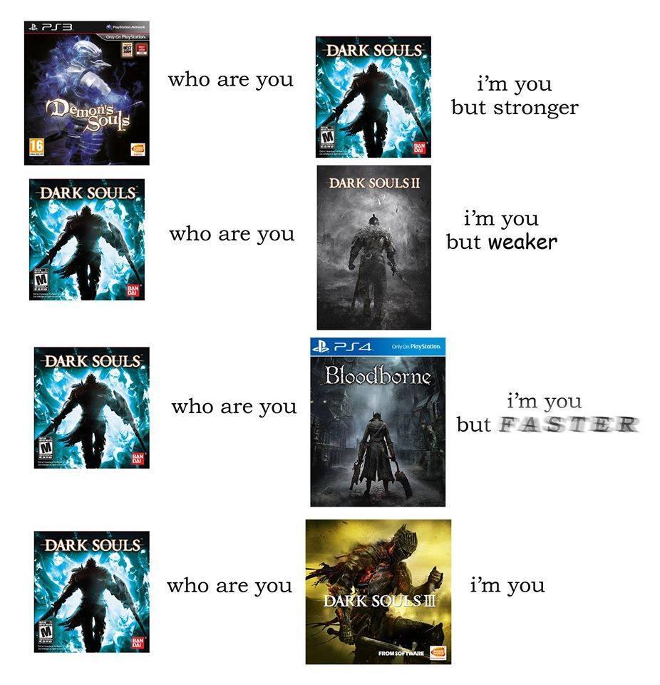 Compare.   Dark Souls   Know Your Meme