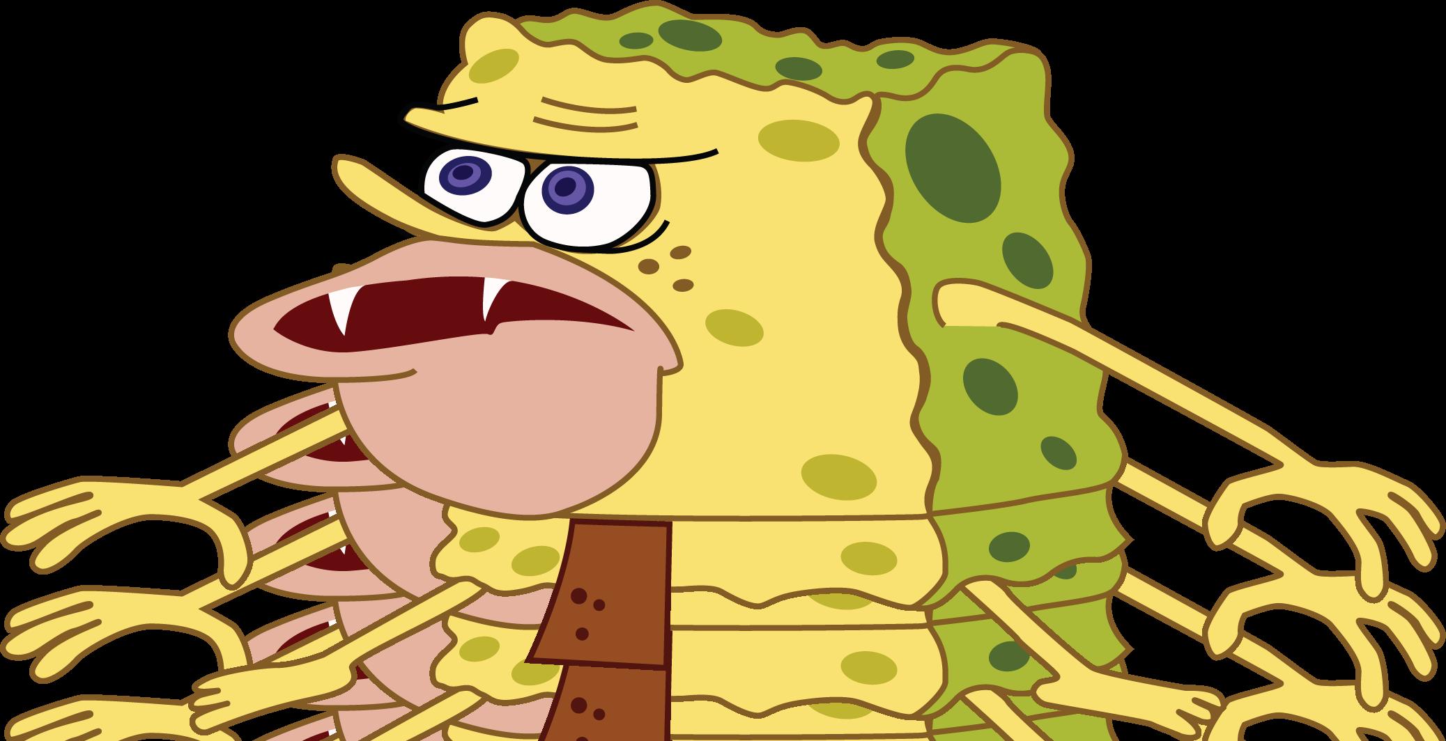 High res template | SpongeGar / Primitive Sponge / Caveman ...