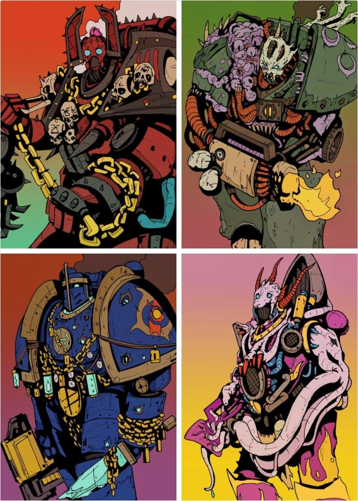 Chaos Cult Marines   Warhammer 40k   Know Your Meme