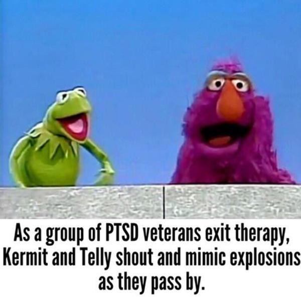 Funny Muppet Meme: Those War Flashbacks...