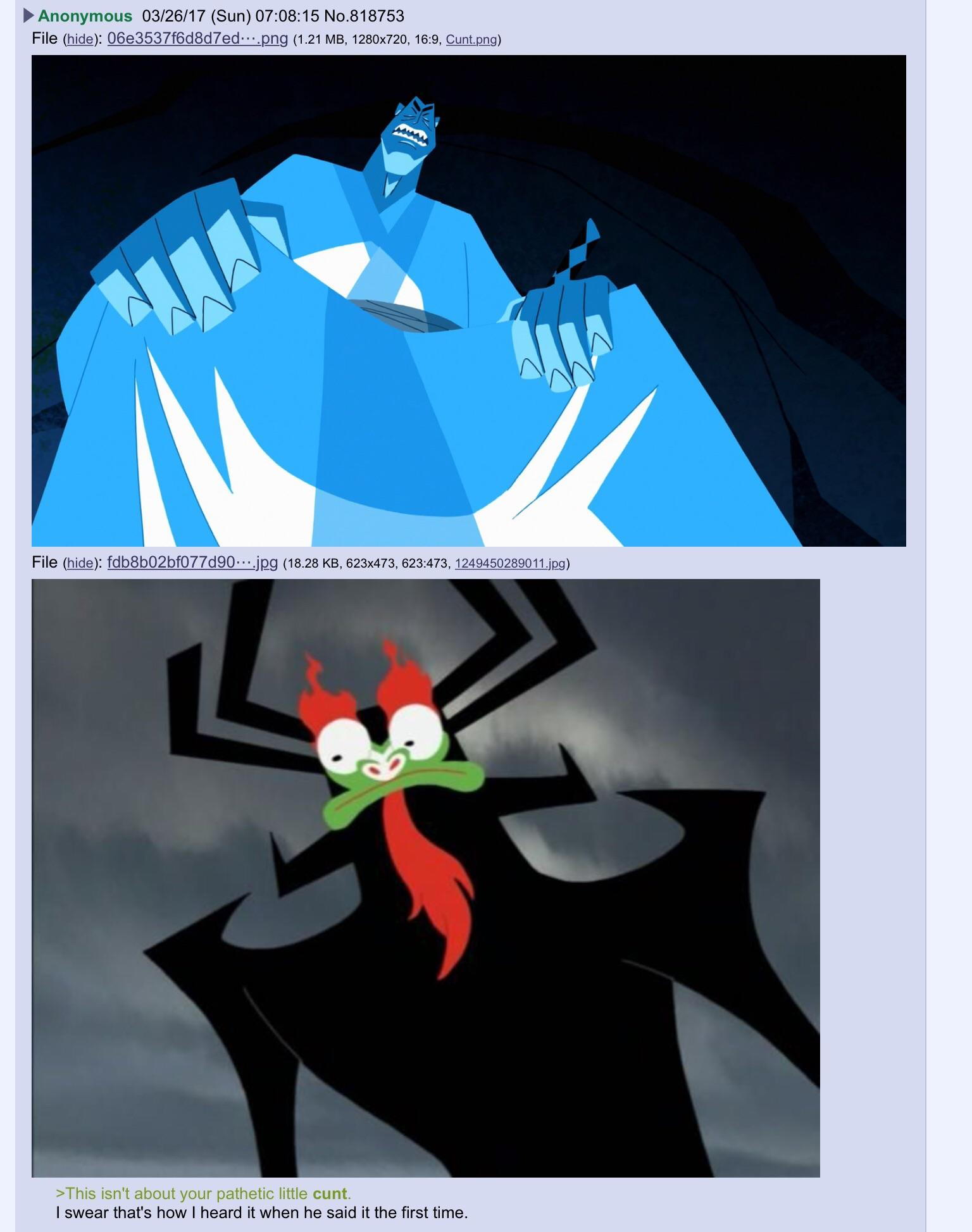 You heard it too, don't lie to me | Samurai Jack | Know ...
