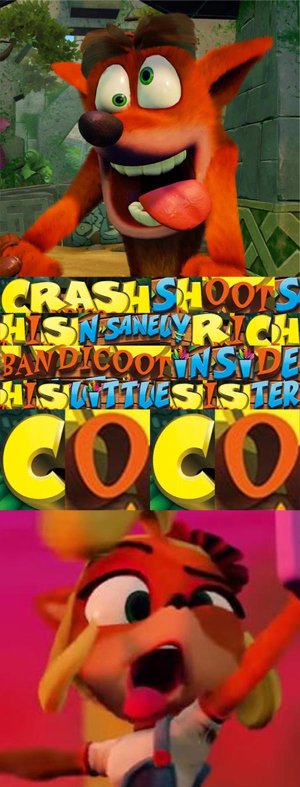 Hot, sticky bandicoot | Crash Bandicoot | Know Your Meme