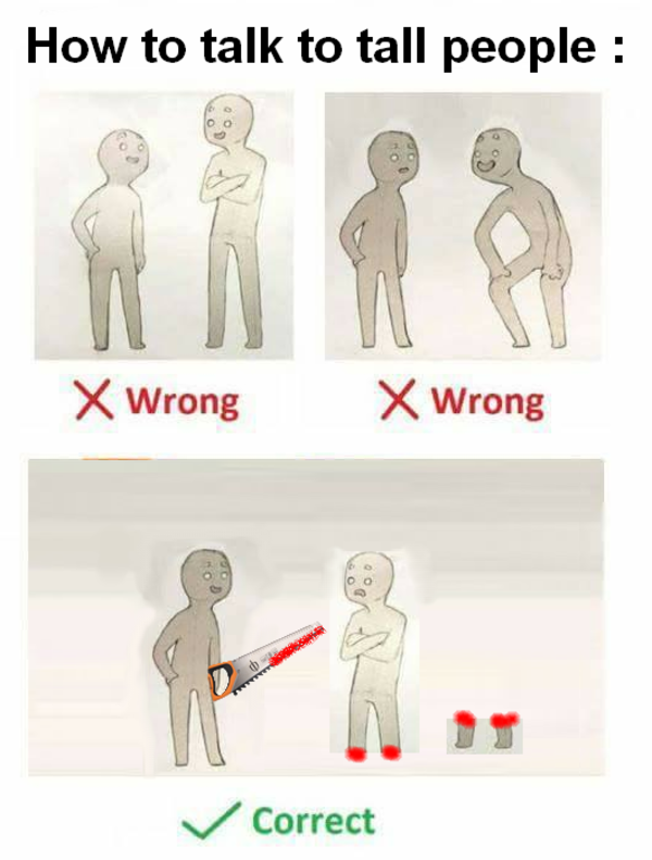 Hot to talk to tall people   How To Talk To Short People ...