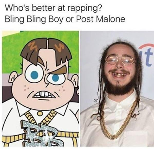 Bling Bling Boy Or Post Malone