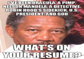 Morgan Freeman's Resume