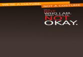 We're a Culture, Not a Costume