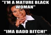 Irrational Black Woman