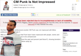 CM Punk Is Not Impressed