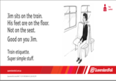 Queensland Rail Etiquette Posters