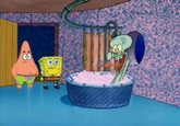 X Drops By Squidward's House