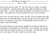 The Geek Code