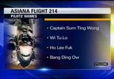 Fake Asiana Pilot Names