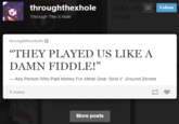 They Played Us Like A Damn Fiddle!