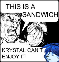 Krystal Can't Enjoy Her Sandwich