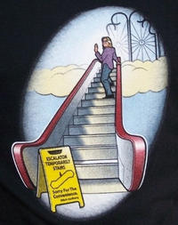 Escalator temporarily stairs