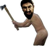 Naked Guy With Axe