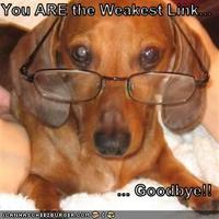 You are the weakest link...goodbye!