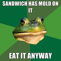 The Sandwich was mold