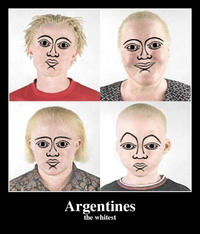 Argentina is white