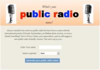 Your NPR Name