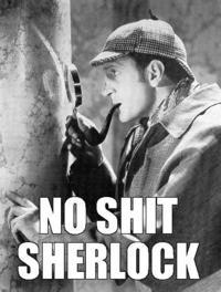 No s**t, Sherlock