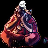 Pyro Sitting Down