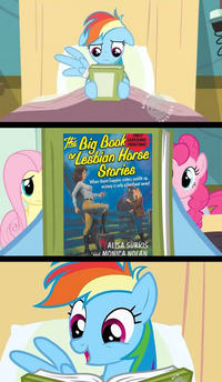 Rainbow Dash Reads a(n) X Book