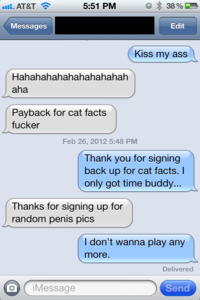 Cat Facts Text Trolling