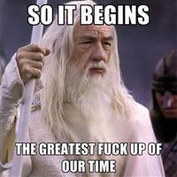 So it begins/Foreboding Gandalf