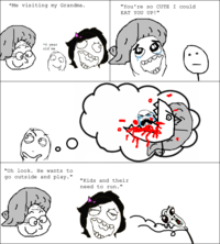 OMG RUN Guy / Tampon Head Rage Face