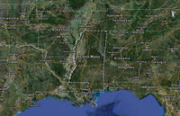 Land Mass between New Orleans and Mobile