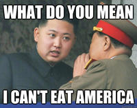 Hungry Kim Jong-un