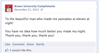 University Compliment Facebook Pages