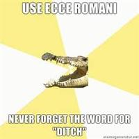 "Cambridge's ""Ecce Romani"" textbook"
