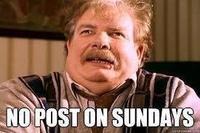 No Post on Sundays